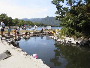 和琴温泉 露天風呂・義経岩の湯